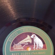 Discos de pizarra: DISCO 78 RPM - GRAMOFONO - ORQUESTA WARING´S PENNSYLVANIANS - FILM - NAVY BLUES - FOXTROT - PIZARRA. Lote 177399097