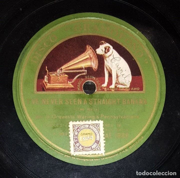 DISCO 78 RPM - GRAMOFONO - ORQUESTA WARING´S PENNSYLVANIANS - I´VE NEVER SEEN A STRAIGHT.. - PIZARRA (Música - Discos - Pizarra - Jazz, Blues, R&B, Soul y Gospel)