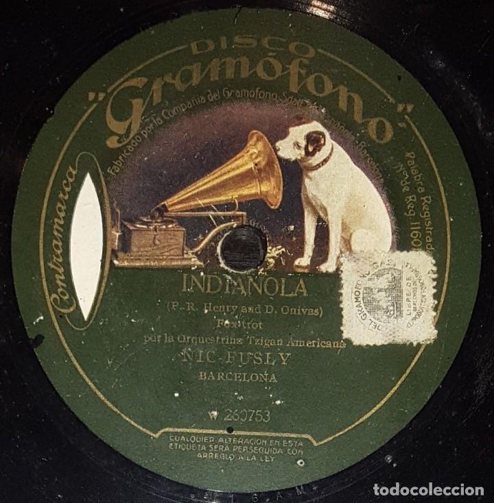 Discos de pizarra: DISCO 78 RPM - GRAMOFONO - ORQUESTRINA TZIGAN AMERICANA NIC FUSLY - HINDUSTAN - RARO - PIZARRA - Foto 2 - 177403679