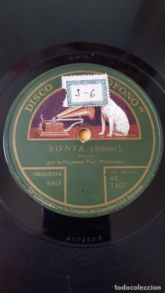 DISCO 78 RPM - GRAMOFONO - ORQUESTA PAUL WHITEMAN - SONIA - SCHAFER - FOOT LOOSE - PIZARRA (Música - Discos - Pizarra - Jazz, Blues, R&B, Soul y Gospel)