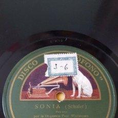 Discos de pizarra: DISCO 78 RPM - GRAMOFONO - ORQUESTA PAUL WHITEMAN - SONIA - SCHAFER - FOOT LOOSE - PIZARRA. Lote 177404294