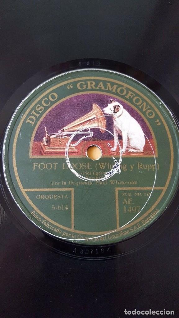 Discos de pizarra: DISCO 78 RPM - GRAMOFONO - ORQUESTA PAUL WHITEMAN - SONIA - SCHAFER - FOOT LOOSE - PIZARRA - Foto 2 - 177404294