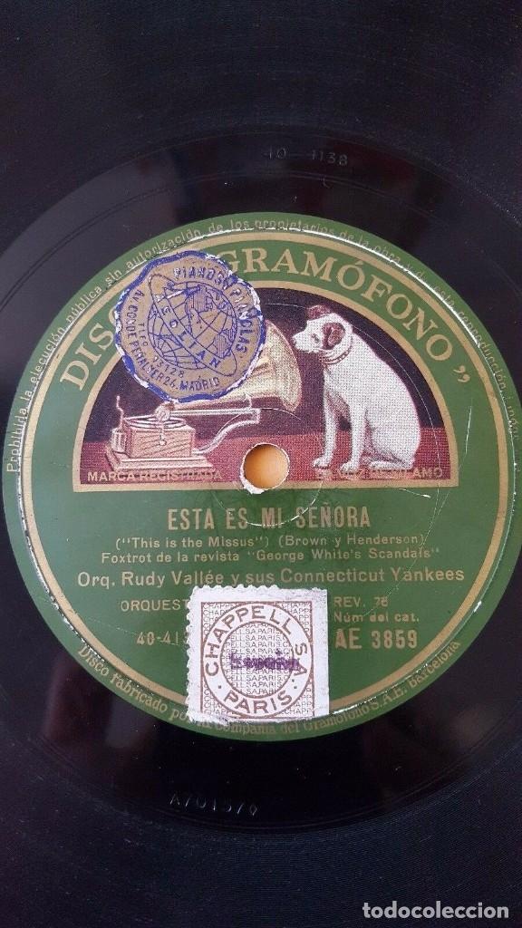 Discos de pizarra: DISCO 78 RPM - GRAMOFONO - RUDY VALLEE - CONNECTICUT YANKEES - ME VUELVES LOCO - FOXTROT - PIZARRA - Foto 2 - 177404932