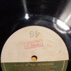 Discos de pizarra: DISCO 78 RPM - GRAMOFONO MUESTRA - JEANETTE MACDONALD - CORO - FILM - EL DESFILE DEL AMOR - PIZARRA. Lote 177405863