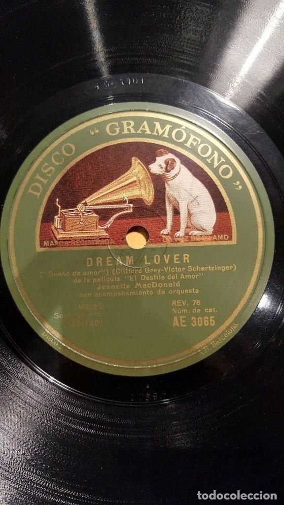 Discos de pizarra: DISCO 78 RPM - GRAMOFONO MUESTRA - JEANETTE MACDONALD - CORO - FILM - EL DESFILE DEL AMOR - PIZARRA - Foto 2 - 177405863