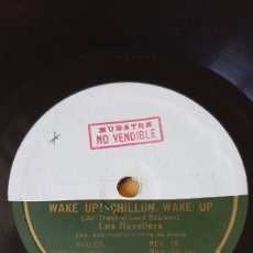 Discos de pizarra: DISCO 78 RPM - GRAMOFONO MUESTRA - LOS REVELLERS - PLODDIN´ ALONG - WAKE UP! - PIANO - PIZARRA. Lote 177408013