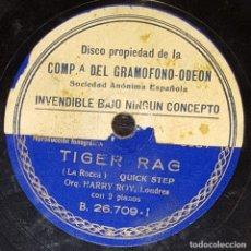 Discos de pizarra: DISCO 78 RPM - GRAMOFONO MUESTRA - ORQUESTA HARRY ROY - TIGER RAG - CANADIAN CAPERS - PIZARRA. Lote 177408820