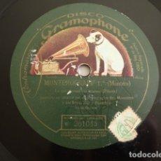 Discos de pizarra: JOAQUIM MONTERO - MONTEROGRAFF 1.º, LO QUE PIENSAN LAS ESTATUAS (PITARRA) / (CLAVÉ Y CASANOVA). Lote 177416434
