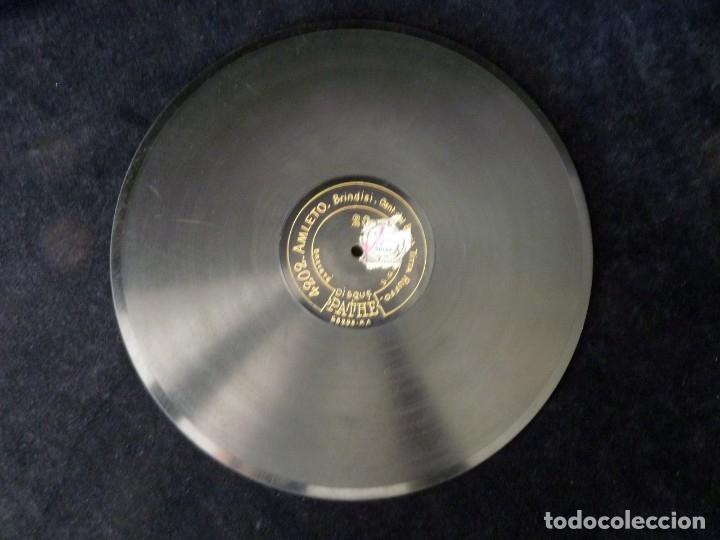 Discos de pizarra: DISCO PIZARRA. TITTA RUFFO. PATHE 4202 AMLETO, BRINDISI - 4205 SIBERIA, O BELLA MIA. 12 MONOFACIAL - Foto 2 - 177438935