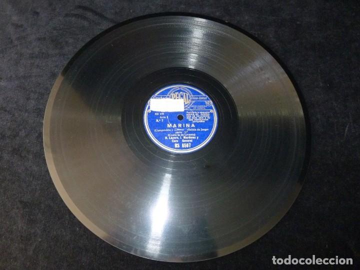 Discos de pizarra: ZARZUELA. MARINA Nº7-8. SALIDA DE JORGE, PARTES 1-2. M.CASPIR H. LÁZARO Y J. MARDONÉS. REGAL RS6507 - Foto 2 - 177602434