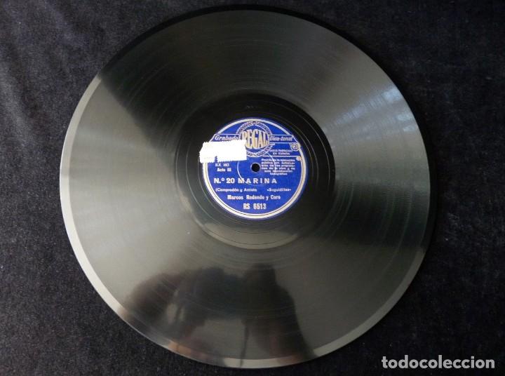 Discos de pizarra: ZARZUELA. MARINA Nº19-20. SEGUIDILLAS - EN LAS ALAS DEL DESEO. CASPIR, LÁZARO Y REDONDO. REGAL RS651 - Foto 4 - 177602515