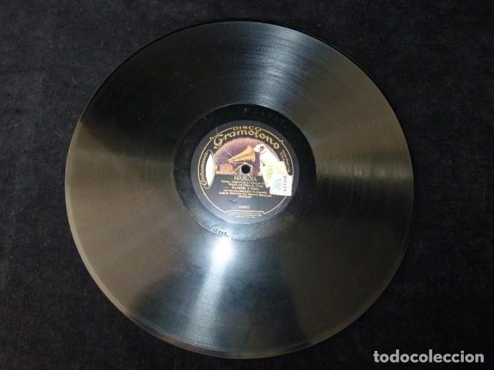 Discos de pizarra: ZARZUELA. MARUXA. PRELUDIO 2º ACTO - BAILABLE Y CORO. ORQ, GRAMOFONO. MARQUINA. DISCO GRAMÓFONO 0666 - Foto 4 - 177603342