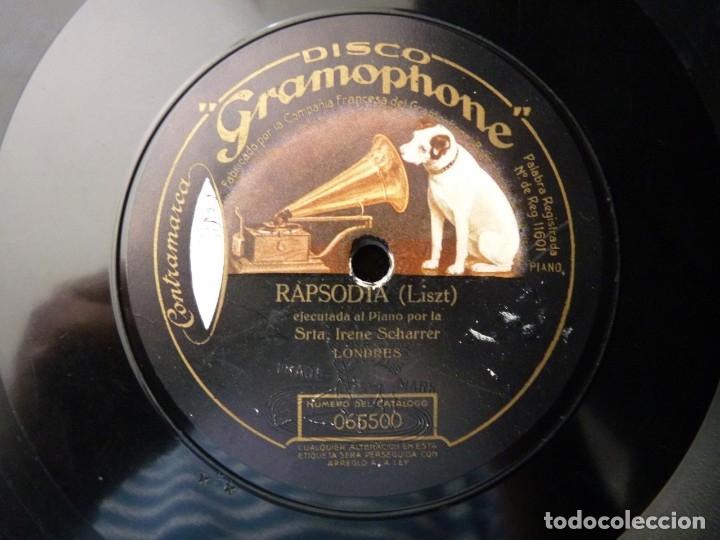Discos de pizarra: CHOPIN, FANTASIA IMPROVISADA. W. BACKHAUS - LISZT, RAPSODIA. I. SCHARRER. MONARCH RECORD GRAMOPHONE - Foto 3 - 177603684