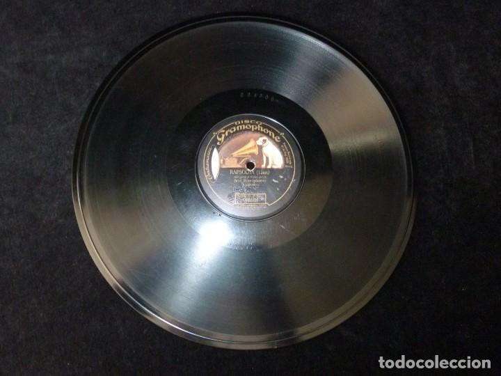 Discos de pizarra: CHOPIN, FANTASIA IMPROVISADA. W. BACKHAUS - LISZT, RAPSODIA. I. SCHARRER. MONARCH RECORD GRAMOPHONE - Foto 4 - 177603684