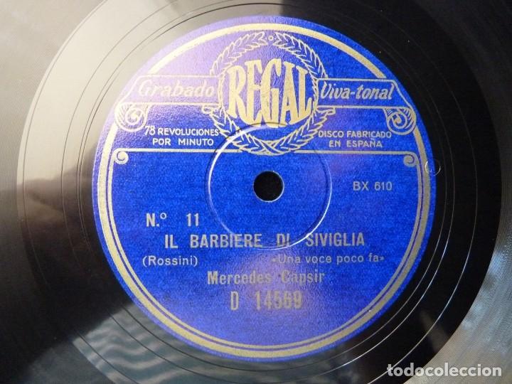 Discos de pizarra: DISCO PIZARRA. IL BARBIERE DI SIVIGLIA. UNA VOCE POCO FA- LO SONO DOCILE. MERCEDES CAPSIR. REGAL D14 - Foto 3 - 177603827