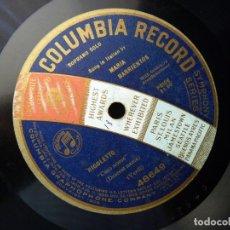 Discos de pizarra: RIGOLETTO (VERDI). CARO NOME. MARÍA BARRIENTOS CON ACOMP.ORQUESTA. COLUMBIA RECORD 48649. MONOFACIAL. Lote 177603938