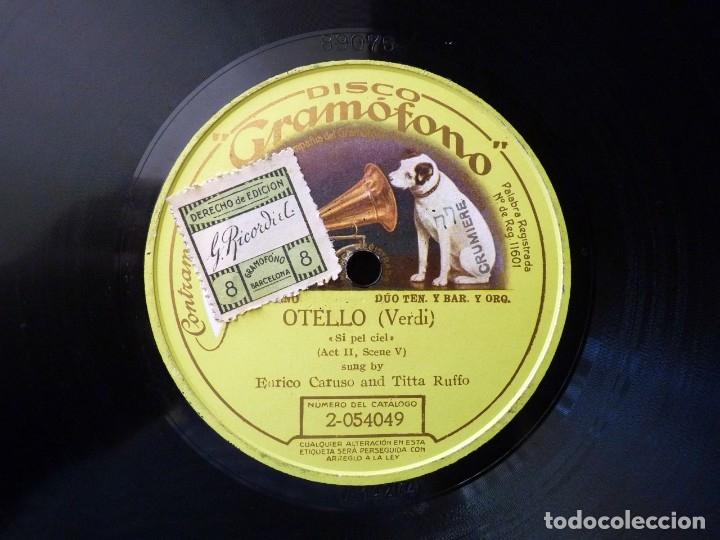OTELLO (VERDI), SI PEL CIEL. ERICO CARUSO - TITTA RUFFO. DISCO GRAMÓFONO 2-054049. MONOFACIAL (Música - Discos - Pizarra - Clásica, Ópera, Zarzuela y Marchas)