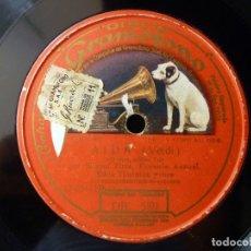 Discos de pizarra: AIDA (VERDI). O TERRA, ADDIO... MIGUEL FLETA - FLORENCE AUSTRAL - EDNA THORNTON. DISCO GRAMOFONO DB . Lote 177641200