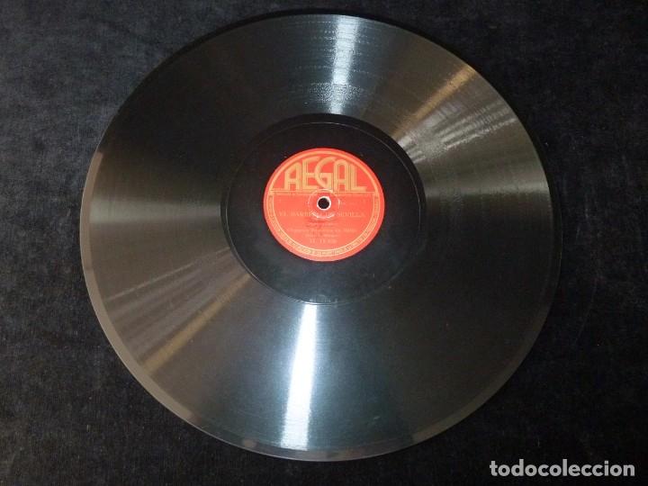 Discos de pizarra: EL BARBERO DE SEVILLA (ROSSINI). OBERTURA, PARTE 1ª y 2ª. SINFÓNICA MILAN. L. MALAJOLI. REGAL M15036 - Foto 4 - 177641269