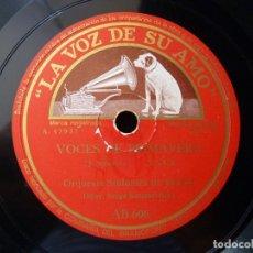 Discos de pizarra: VALS. VOCES DE PRIMAVERA-SANGRE VIENESA. STRAUSS. SINFÓNICA BOSTON. S KOUSSEVITZKY. LA VOZ DE SU AMO. Lote 177641488