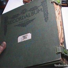 Discos de pizarra: ESTUCHE DE ÉPOCA CON 9 DISCOS DE PIZARRA: ENRICO CARUSO, ETC. AÑOS 1920-1930.. Lote 177693612
