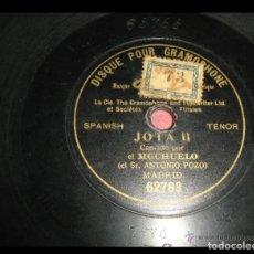 Discos de pizarra: JOTA 2 CANTADA POR EL MOCHUELO. D. ANTONIO POZO. MADRID. Lote 177754435