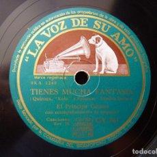 Discos de pizarra: EL PRINCIPE GITANO Y ORQUESTA. TIENES MUCHA FANTASÍA, ZAMBRA. FIESTAS, LA VOZ DE SU AMO GY761. Lote 177877319