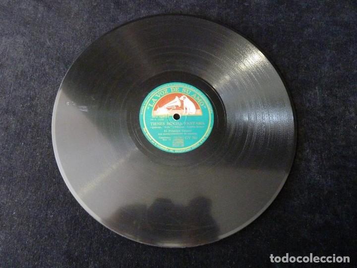 Discos de pizarra: EL PRINCIPE GITANO Y ORQUESTA. TIENES MUCHA FANTASÍA, ZAMBRA. FIESTAS, LA VOZ DE SU AMO GY761 - Foto 2 - 177877319