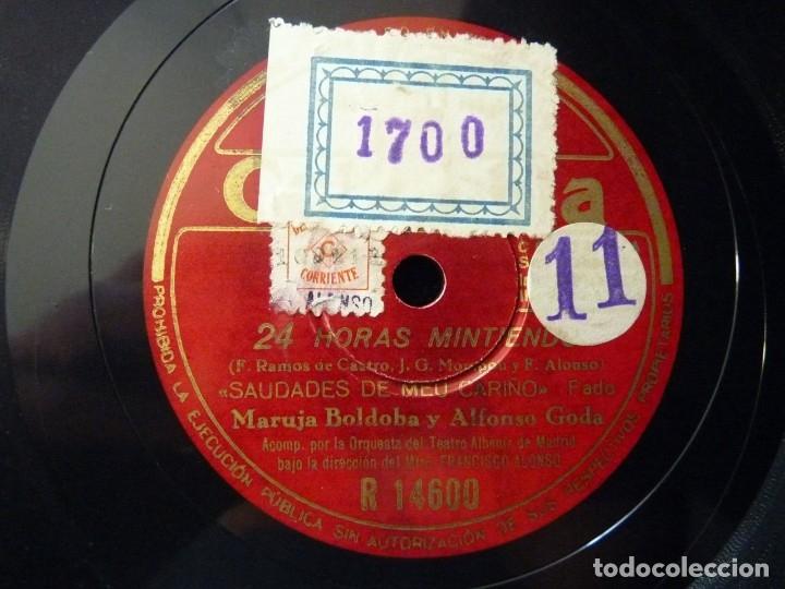 Discos de pizarra: 24 HORAS MINTIENDO 11-12. MARUJA BOLDOBA, ALFONSO GODA. ORQ. TEATRO ALBENIZ. DIRIGE F. ALONSO. COLUM - Foto 3 - 177877772