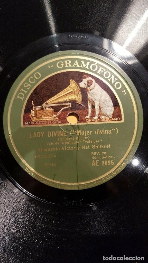 Discos de pizarra: DISCO 78 RPM - GRAMOFONO MUESTRA - ORQUESTA VICTOR - NAT SHILKRET - FILM - TRAFALGAR - PIZARRA - Foto 2 - 177894495