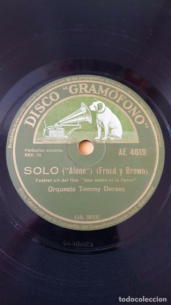 DISCO 78 RPM - GRAMOFONO - TOMMY DORSEY - XAVIER CUGAT - FILM - UNA NOCHE EN LA OPERA - PIZARRA (Música - Discos - Pizarra - Jazz, Blues, R&B, Soul y Gospel)