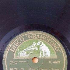 Discos de pizarra: DISCO 78 RPM - GRAMOFONO - TOMMY DORSEY - XAVIER CUGAT - FILM - UNA NOCHE EN LA OPERA - PIZARRA. Lote 177897035