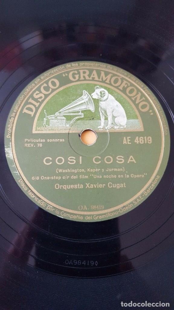 Discos de pizarra: DISCO 78 RPM - GRAMOFONO - TOMMY DORSEY - XAVIER CUGAT - FILM - UNA NOCHE EN LA OPERA - PIZARRA - Foto 2 - 177897035