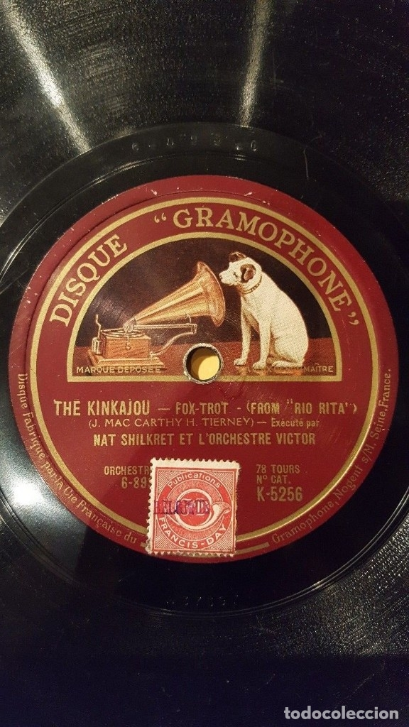 DISCO 78 RPM - GRAMOPHONE - NAT SHILKRET - ORCHESTRE VICTOR - FILM - RIO RITA - FOXTROT - PIZARRA (Música - Discos - Pizarra - Jazz, Blues, R&B, Soul y Gospel)