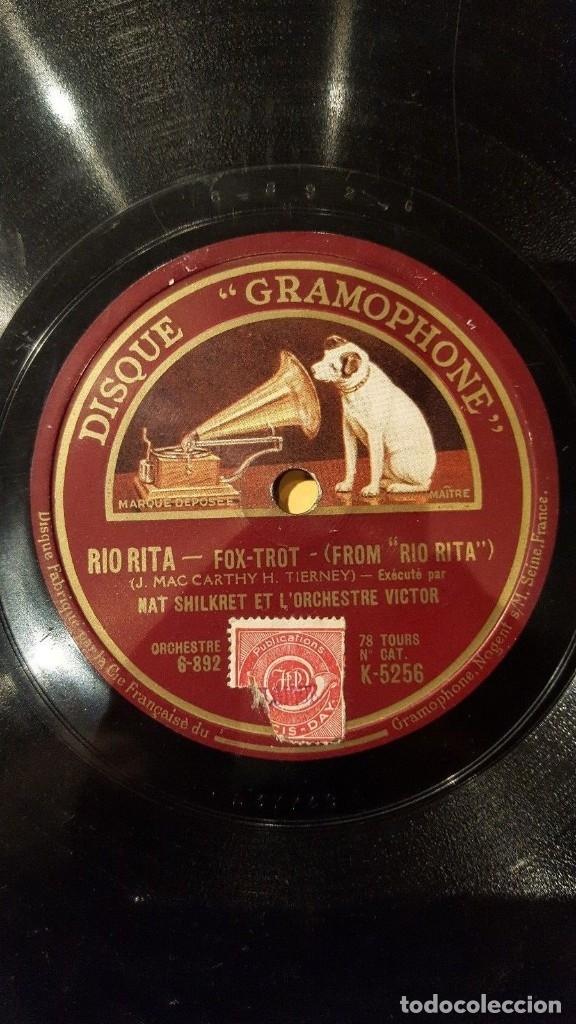 Discos de pizarra: DISCO 78 RPM - GRAMOPHONE - NAT SHILKRET - ORCHESTRE VICTOR - FILM - RIO RITA - FOXTROT - PIZARRA - Foto 2 - 177936560