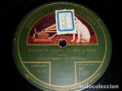 DISCO 78 RPM - GRAMOFONO - ORQUESTA PAUL WHITEMAN - PAL OF MY CRADLE DAYS - FOXTROT - PIZARRA (Música - Discos - Pizarra - Jazz, Blues, R&B, Soul y Gospel)