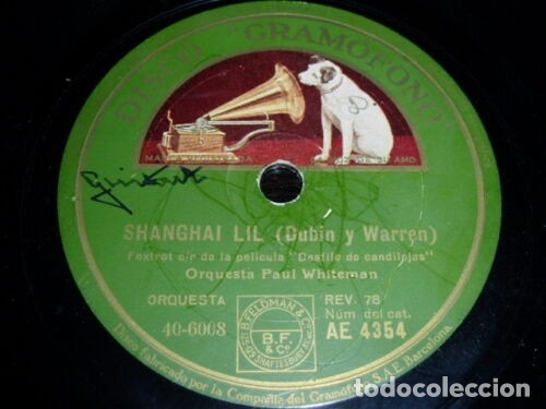 DISCO 78 RPM - GRAMOFONO - PAUL WHITEMAN - LEO REISMAN - FILM - DESFILE DE CANDILEJAS - PIZARRA (Música - Discos - Pizarra - Jazz, Blues, R&B, Soul y Gospel)