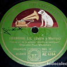 Discos de pizarra: DISCO 78 RPM - GRAMOFONO - PAUL WHITEMAN - LEO REISMAN - FILM - DESFILE DE CANDILEJAS - PIZARRA. Lote 177943698