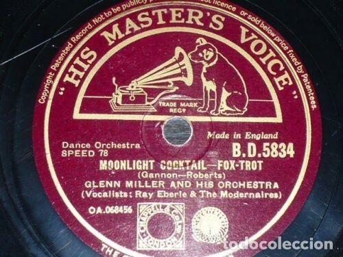 Discos de pizarra: DISCO 78 RPM - HIS MASTER´S VOICE - GLENN MILLER - SLUMBER SONG - MOONLIGHT COCKTAIL - PIZARRA - Foto 2 - 177944753
