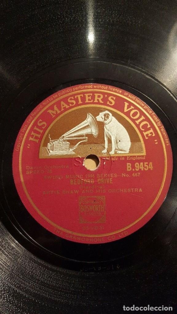 DISCO 78 RPM - HIS MASTER´S VOICE - ARTIE SHAW - ORQUESTA - TABU - LECUONA - BEDFORD DRIVE - PIZARRA (Música - Discos - Pizarra - Jazz, Blues, R&B, Soul y Gospel)