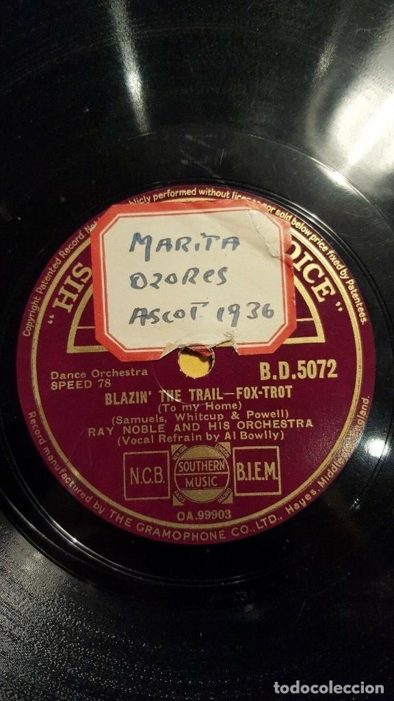 Discos de pizarra: DISCO 78 RPM - HMV - RAY NOBLE - ORQUESTA - FILM - STARS OVER BROADWAY - WHERE AM I? - PIZARRA - Foto 2 - 178055877