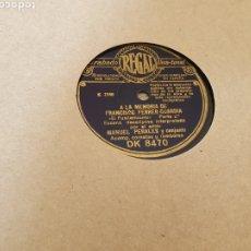 Discos de pizarra: 78 RPM HISTORICO. Lote 178097183