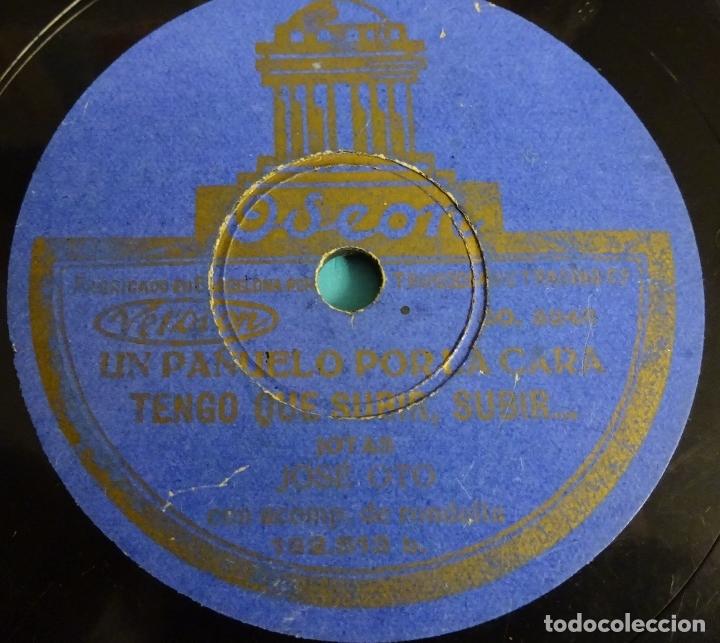 Discos de pizarra: JOSE OTO ACOMPAÑADO DE RONDALLA. LA FIERA / DILE QUE NO ENTRO A VERLA - UN PAÑUELO POR LA CARA / TEN - Foto 2 - 178134233