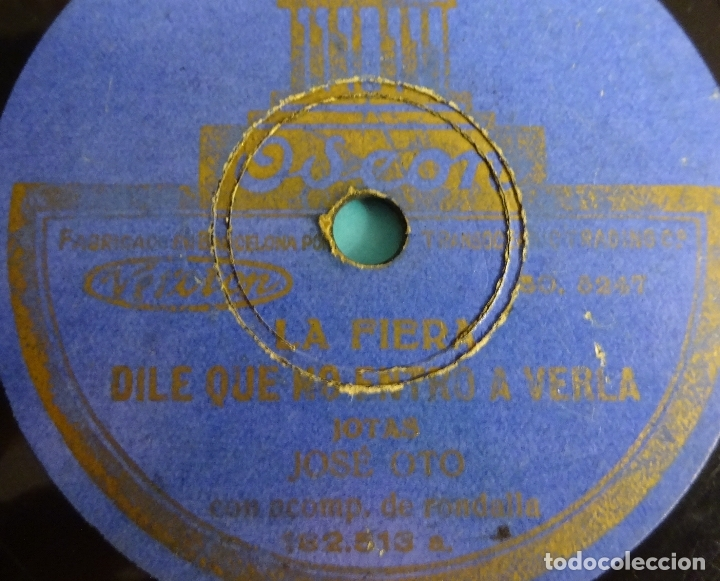 JOSE OTO ACOMPAÑADO DE RONDALLA. LA FIERA / DILE QUE NO ENTRO A VERLA - UN PAÑUELO POR LA CARA / TEN (Música - Discos - Pizarra - Flamenco, Canción española y Cuplé)