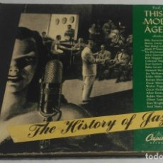 Discos de pizarra: ALBUM DE 5 DISCOS - THIS MODERN AGE VOL.4 THE HISTORY OF JAZZ. Lote 178341263