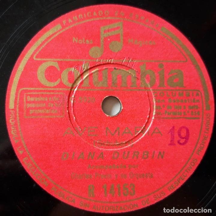 Discos de pizarra: Diana Durbin, Aleluya, Ave María, Columbia R 14153, disco de pizarra - Foto 3 - 178394631
