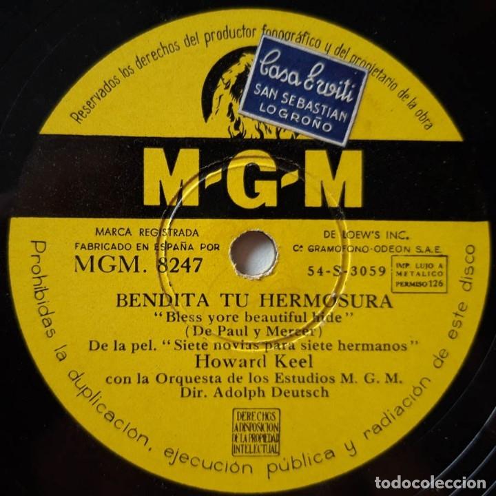 Discos de pizarra: Canciones de la película Siete Novias para Siete Hermanos, MGM, disco de pizarra - Foto 3 - 178395201