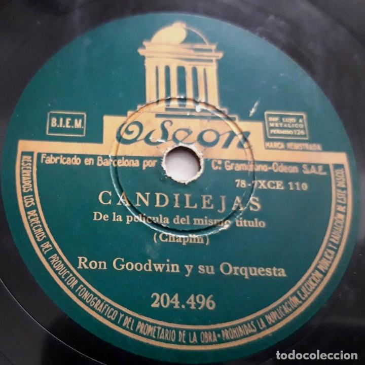 CANDILEJAS, MOULIN ROUGE, DE LAS PELÍCULAS DEL MISMO NOMBRE, RON GOODWIN Y SU ORQUESTA, ODEON 204496 (Música - Discos - Pizarra - Jazz, Blues, R&B, Soul y Gospel)