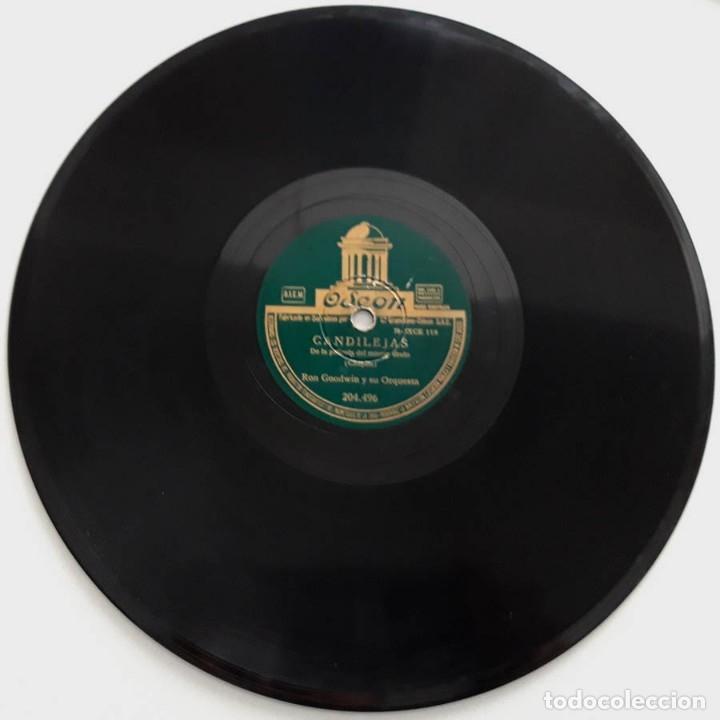 Discos de pizarra: Candilejas, Moulin Rouge, de las películas del mismo nombre, Ron Goodwin y su orquesta, Odeon 204496 - Foto 2 - 178576225