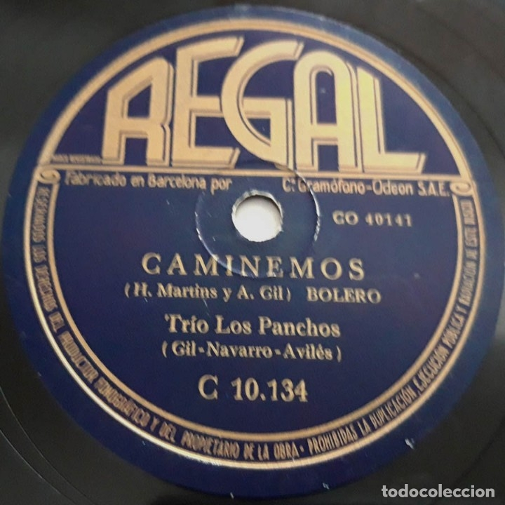 LOS PANCHOS, CAMINEMOS, RAYITO DE LUNA, REGAL C 10134 (Música - Discos - Pizarra - Jazz, Blues, R&B, Soul y Gospel)